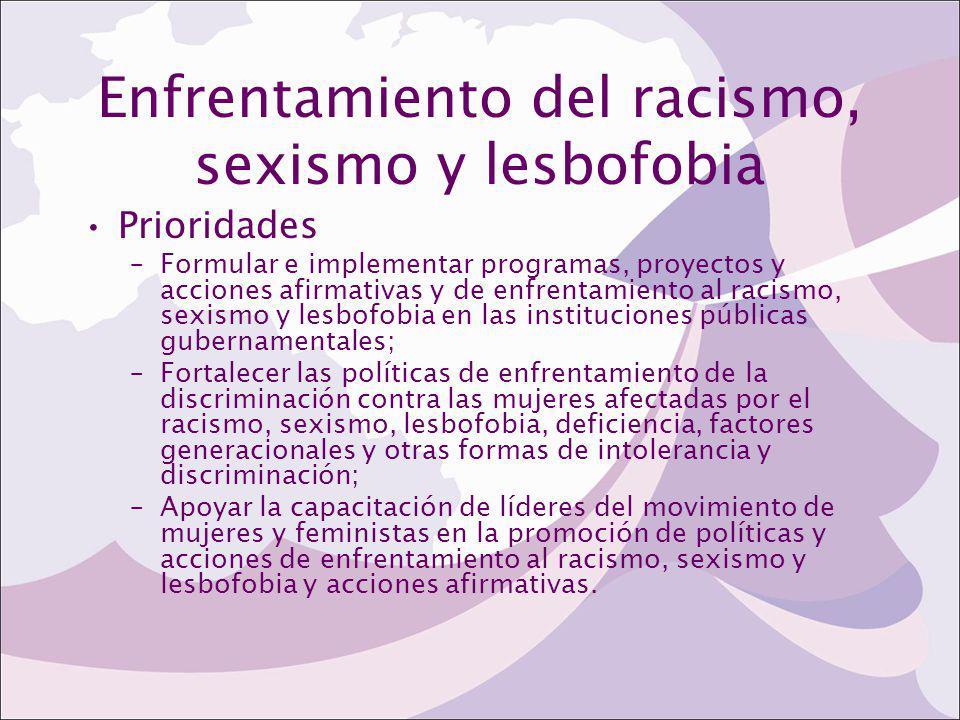 Enfrentamiento del racismo, sexismo y lesbofobia
