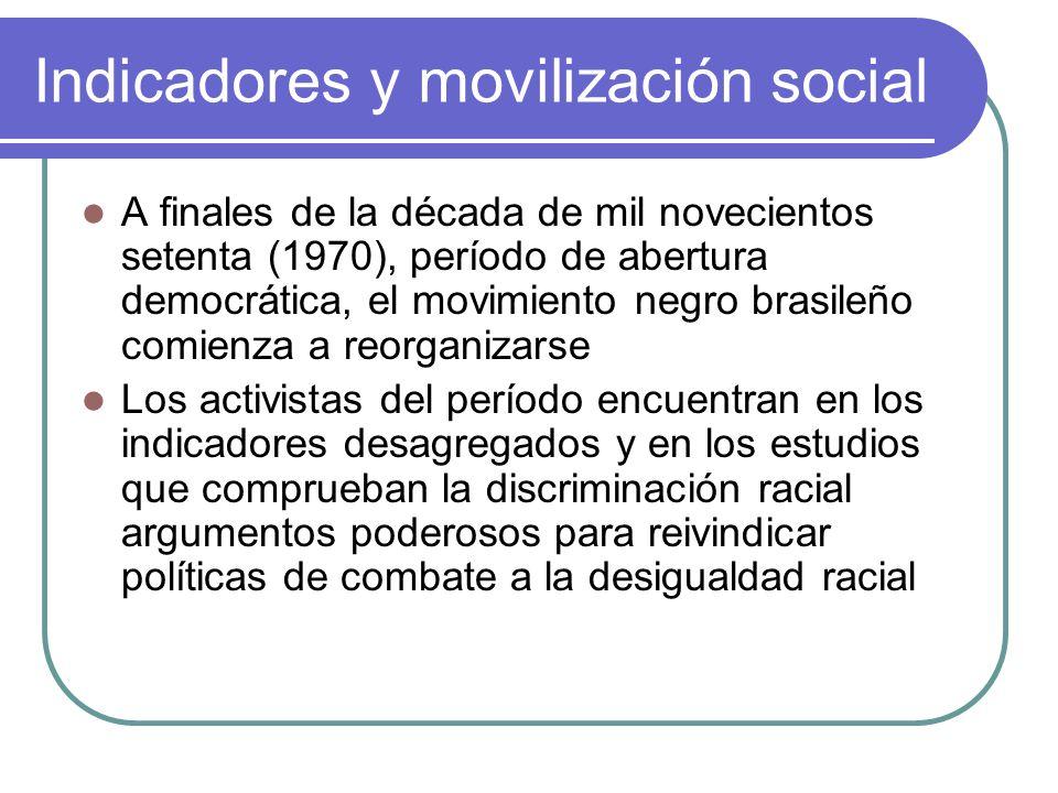 Indicadores y movilización social