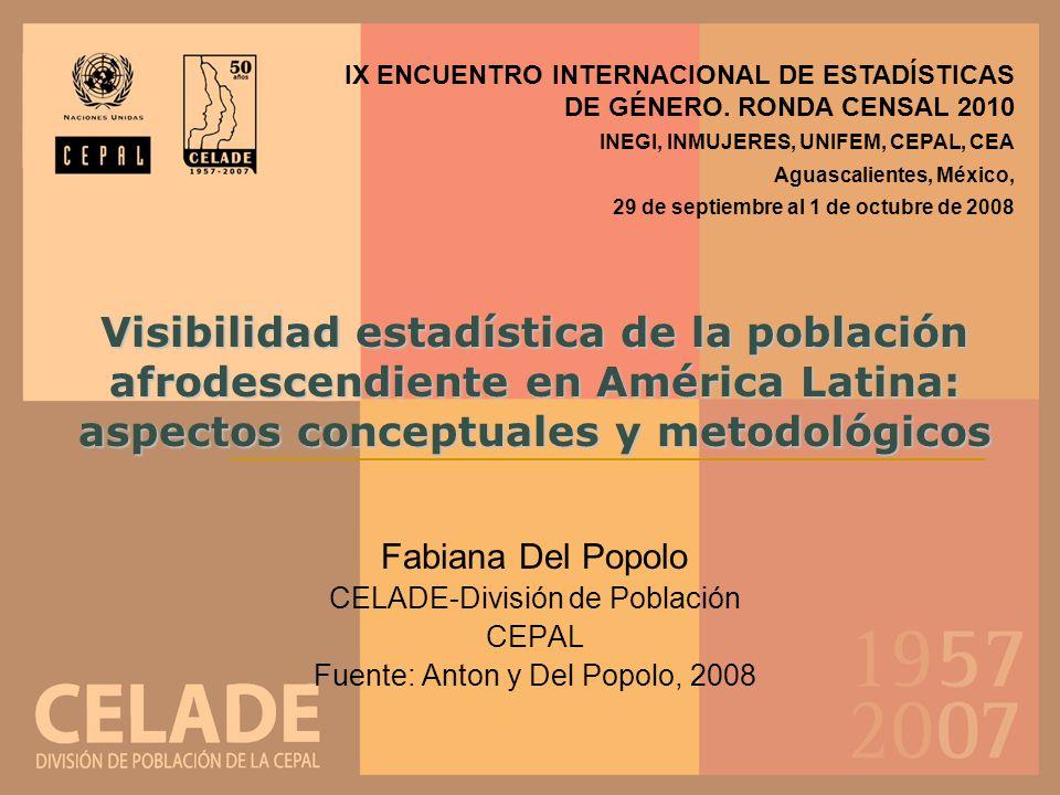IX ENCUENTRO INTERNACIONAL DE ESTADÍSTICAS DE GÉNERO. RONDA CENSAL 2010