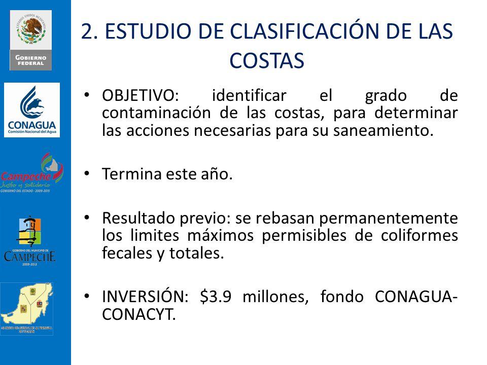 2. ESTUDIO DE CLASIFICACIÓN DE LAS COSTAS