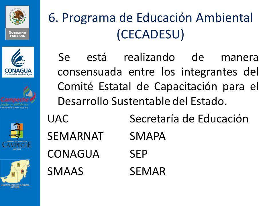 6. Programa de Educación Ambiental (CECADESU)