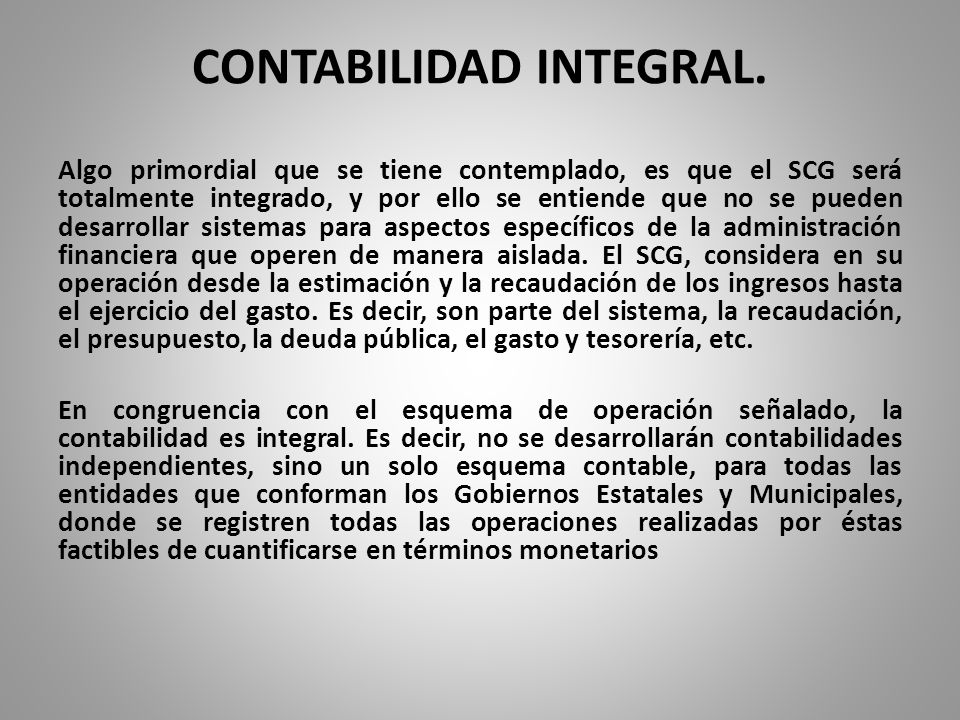CONTABILIDAD INTEGRAL.