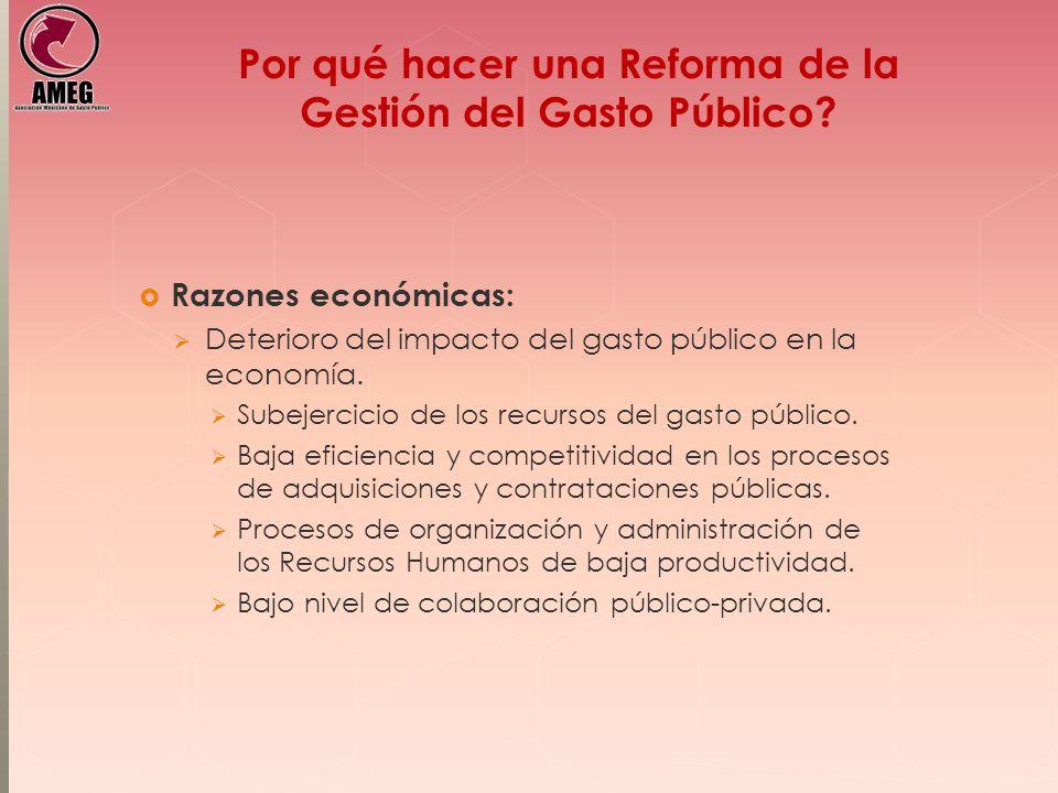 Por qué hacer una Reforma de la Gestión del Gasto Público