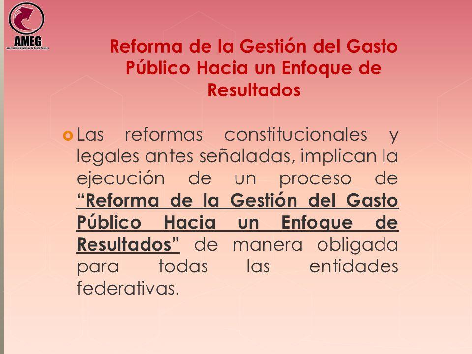Reforma de la Gestión del Gasto Público Hacia un Enfoque de Resultados