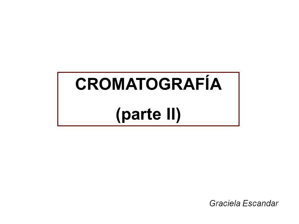 CROMATOGRAFÍA (parte II)