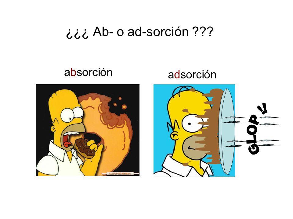 ¿¿¿ Ab- o ad-sorción absorción adsorción GLOP !!