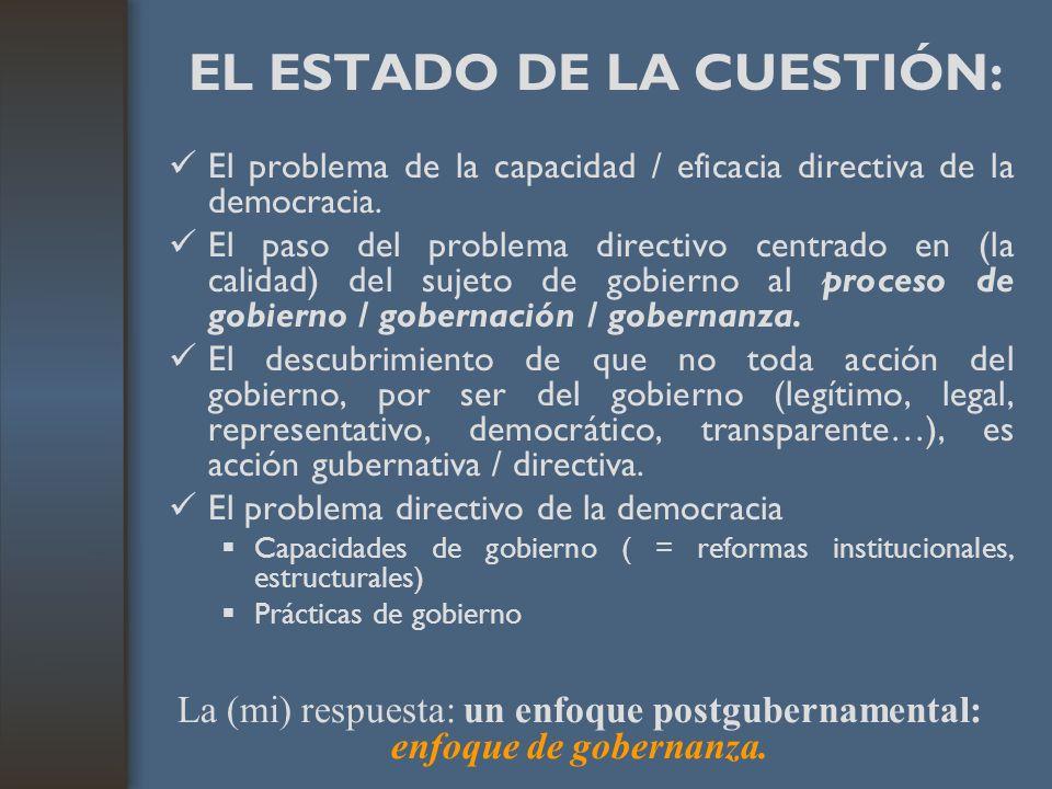 EL ESTADO DE LA CUESTIÓN: