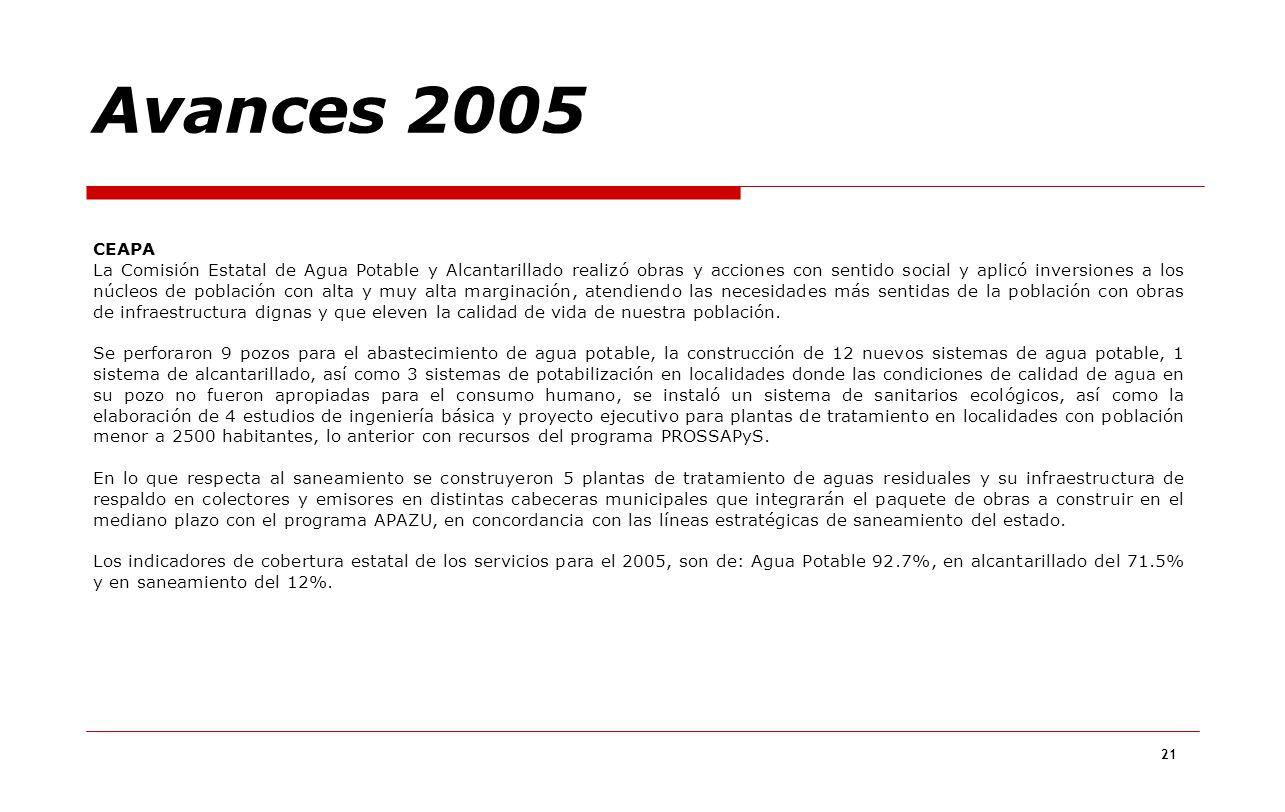 Avances 2005 CEAPA.