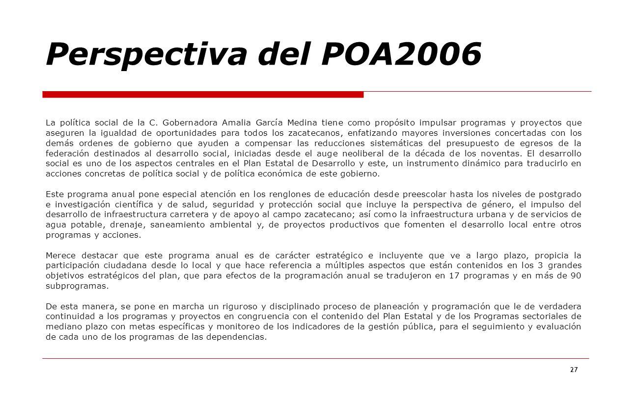 Perspectiva del POA2006