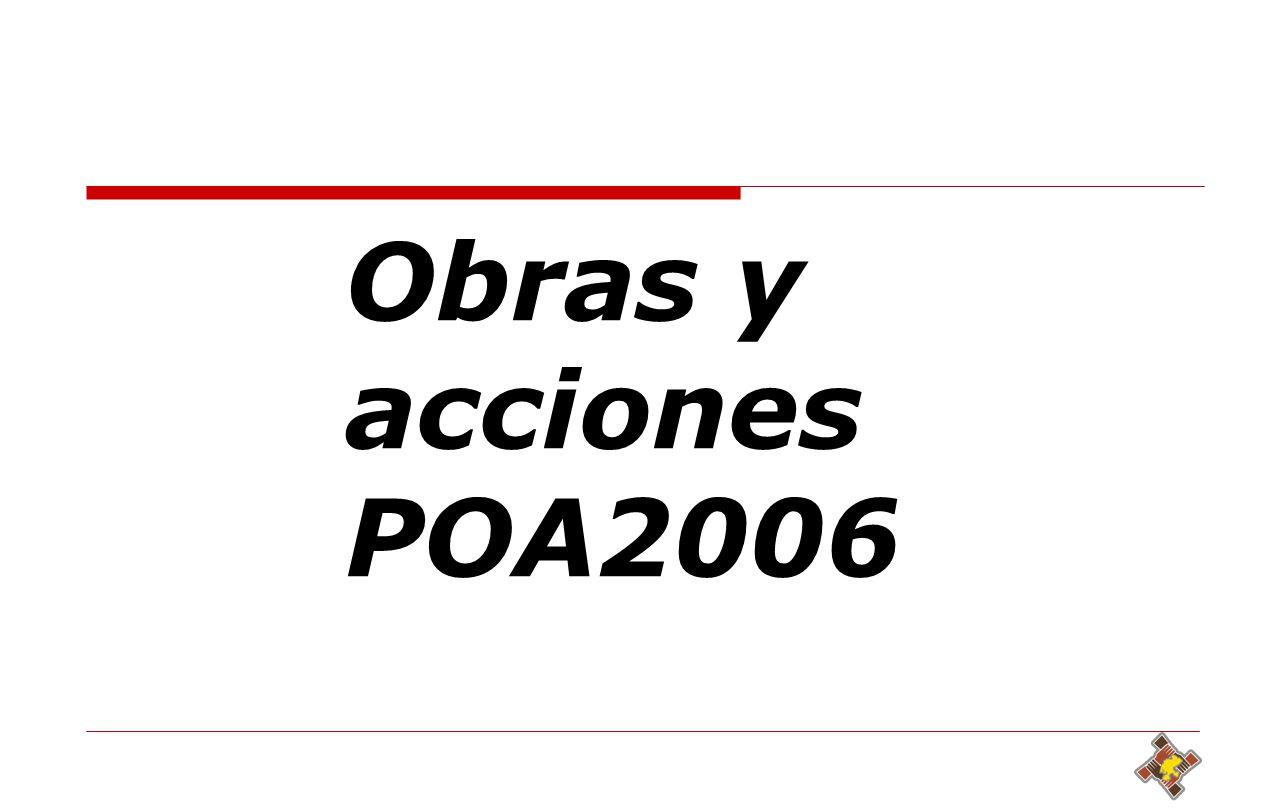 Obras y acciones POA2006