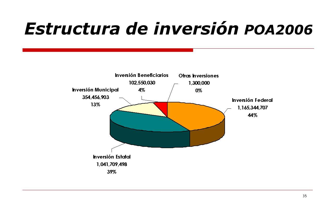 Estructura de inversión POA2006