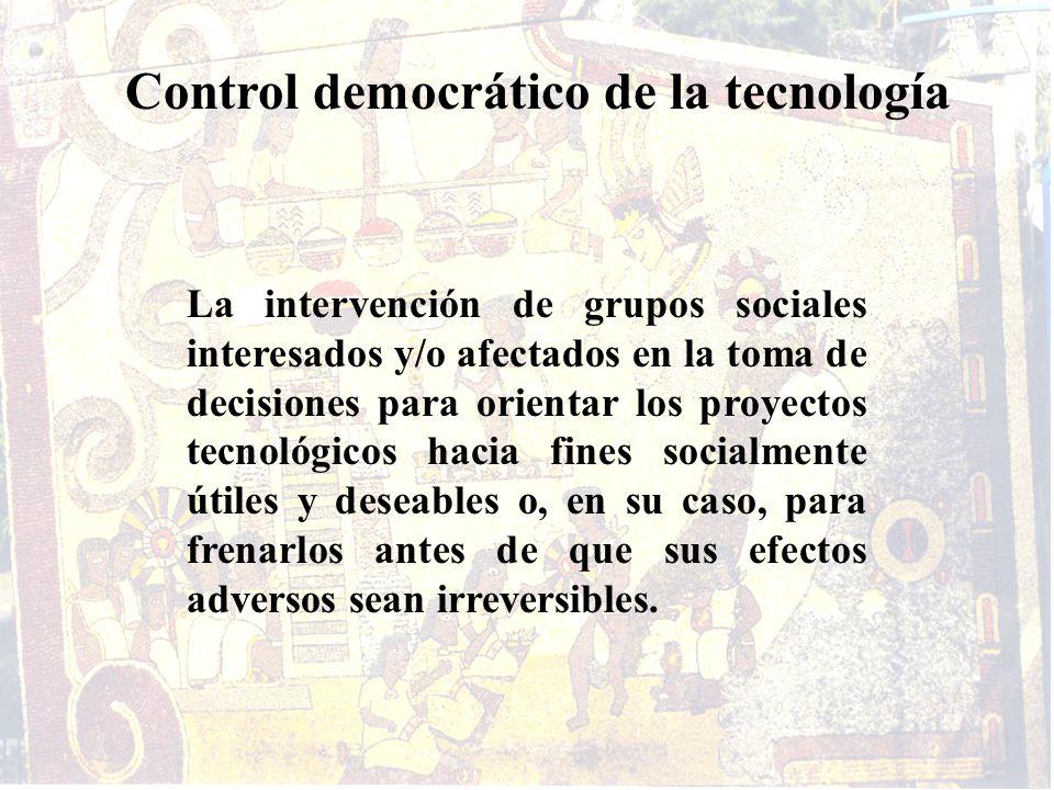 Control democrático de la tecnología