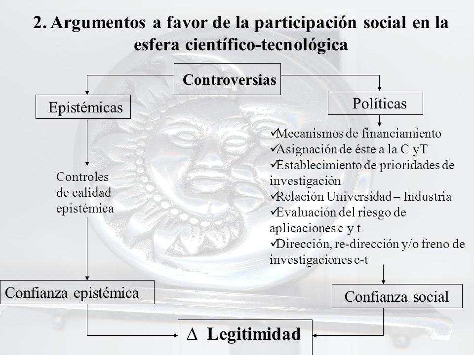 2. Argumentos a favor de la participación social en la esfera científico-tecnológica