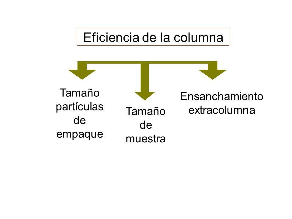 Eficiencia de la columna