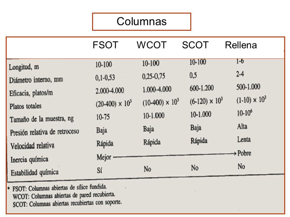 Columnas FSOT WCOT SCOT Rellena