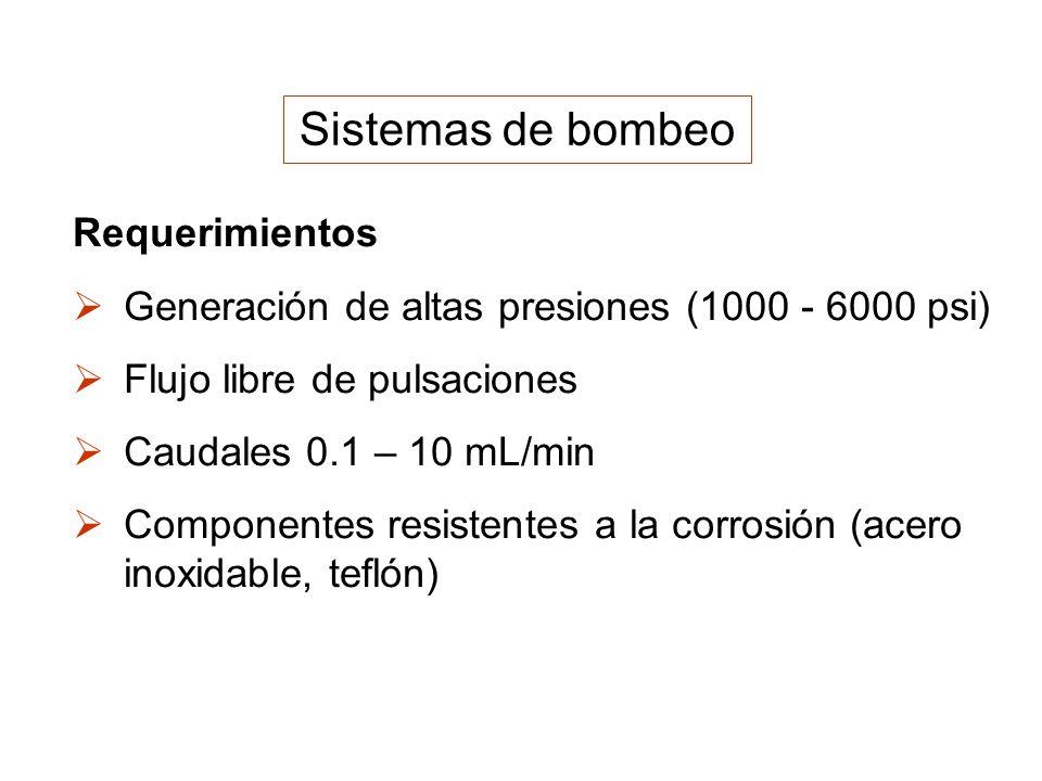 Sistemas de bombeo Requerimientos