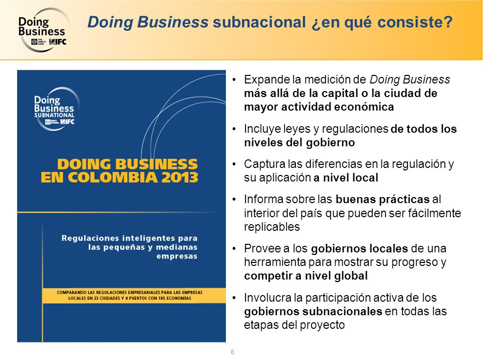 Doing Business subnacional ¿en qué consiste