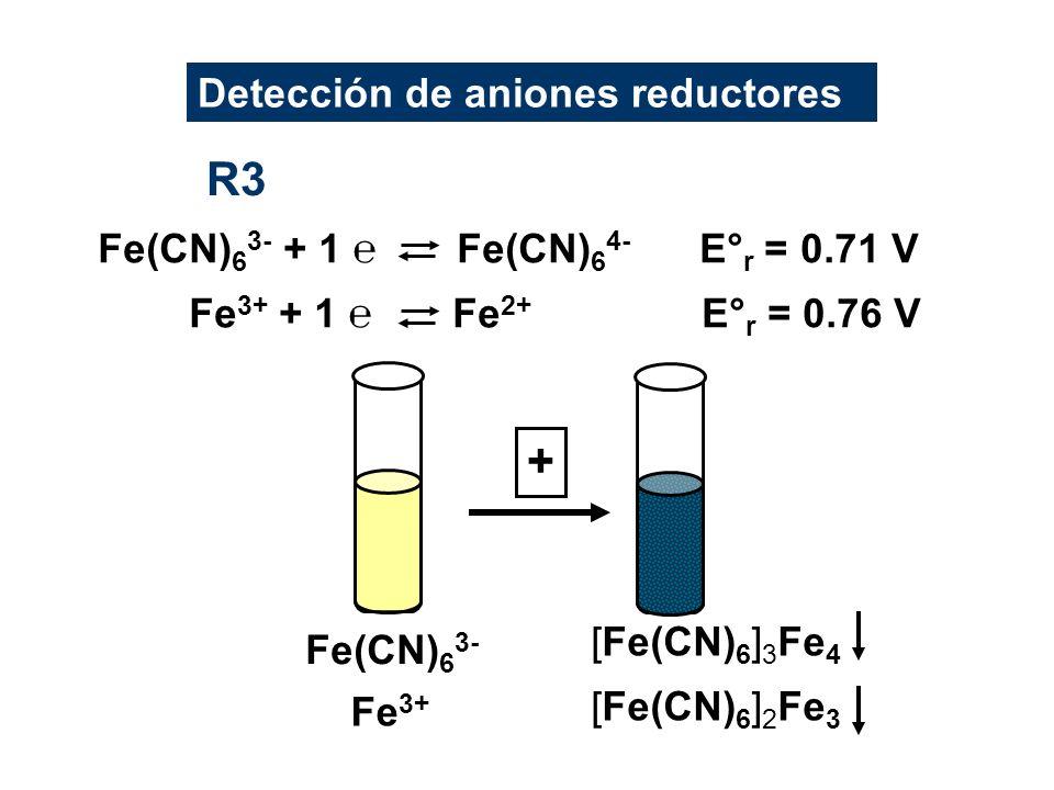 R3 + Detección de aniones reductores
