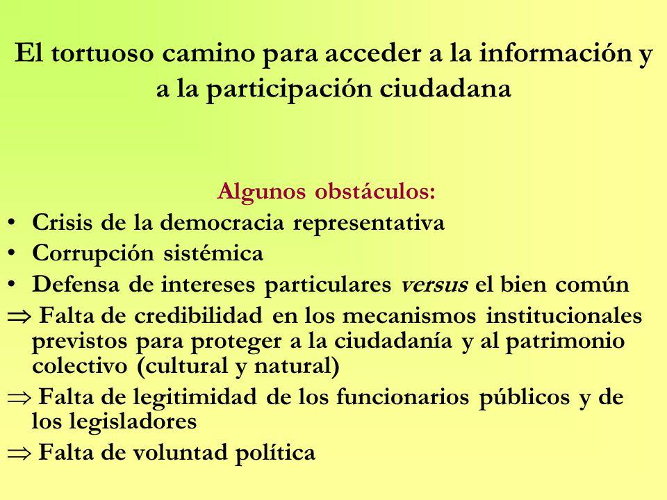 El tortuoso camino para acceder a la información y a la participación ciudadana