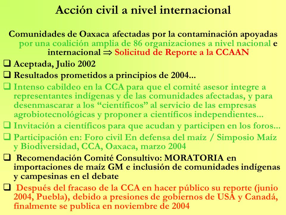 Acción civil a nivel internacional