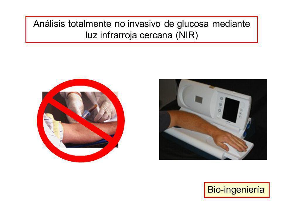 Análisis totalmente no invasivo de glucosa mediante luz infrarroja cercana (NIR)