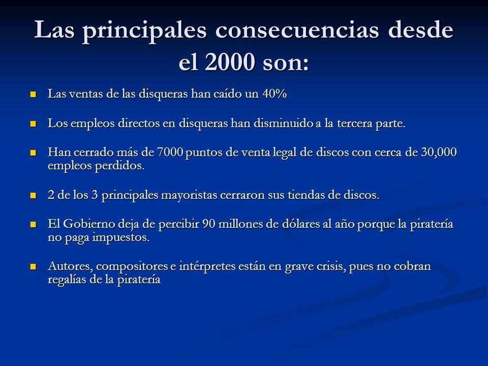 Las principales consecuencias desde el 2000 son: