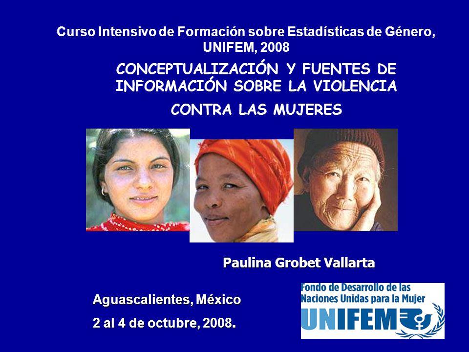 Curso Intensivo de Formación sobre Estadísticas de Género, UNIFEM, 2008
