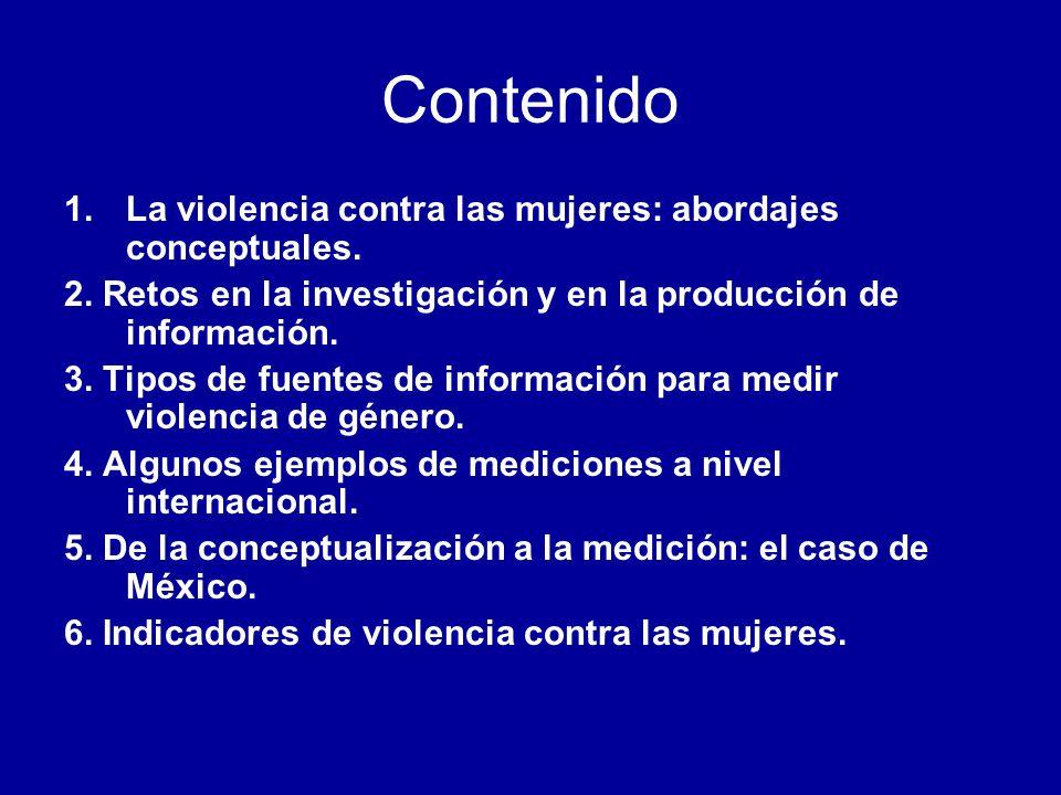 Contenido La violencia contra las mujeres: abordajes conceptuales.