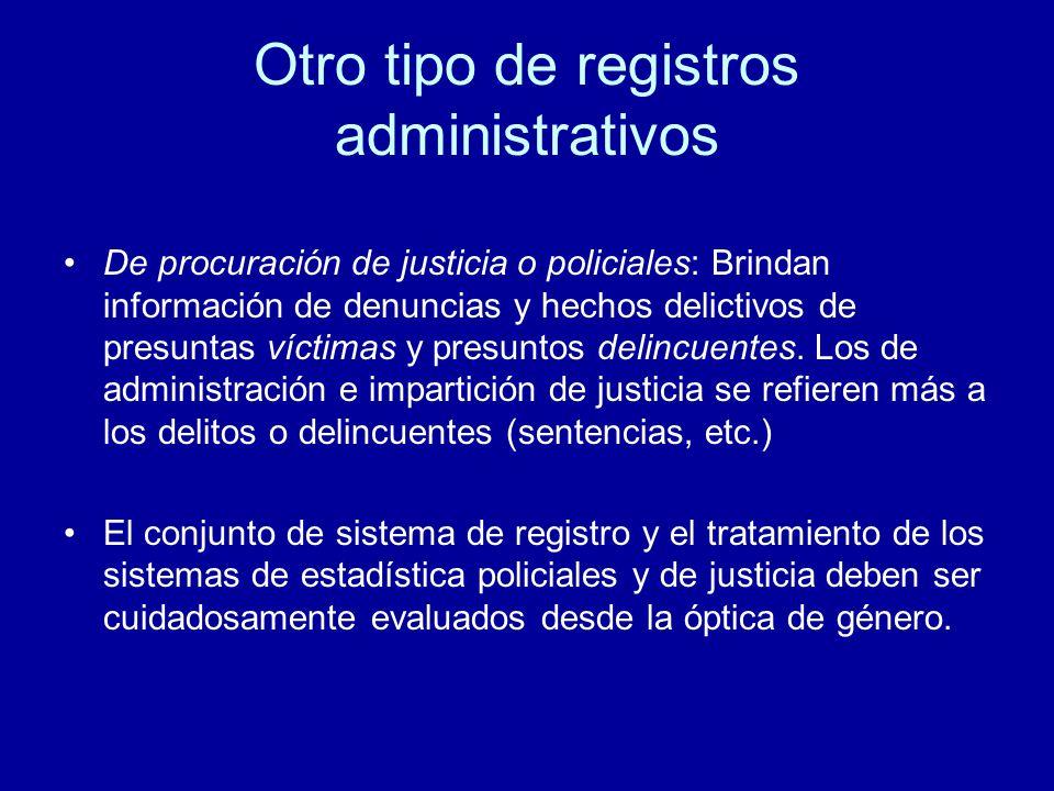 Otro tipo de registros administrativos
