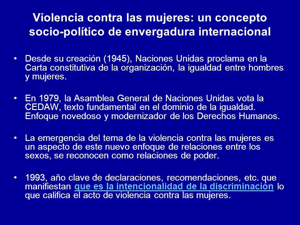 Violencia contra las mujeres: un concepto socio-político de envergadura internacional
