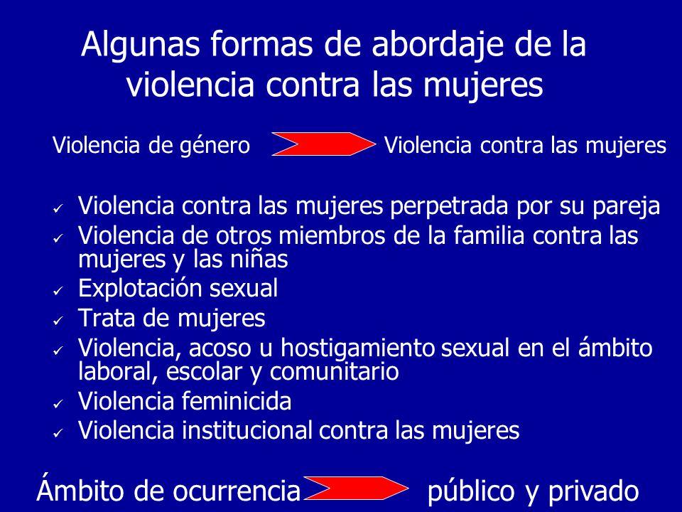Algunas formas de abordaje de la violencia contra las mujeres