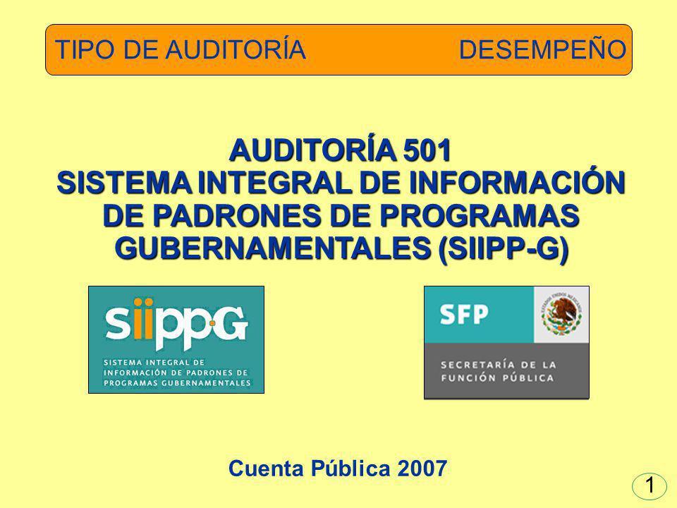 SISTEMA INTEGRAL DE INFORMACIÓN DE PADRONES DE PROGRAMAS