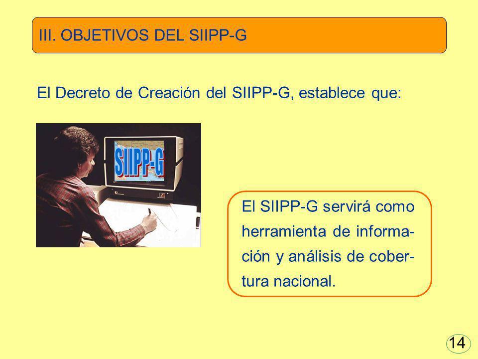 SIIPP-G III. OBJETIVOS DEL SIIPP-G