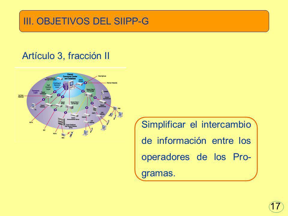 III. OBJETIVOS DEL SIIPP-G