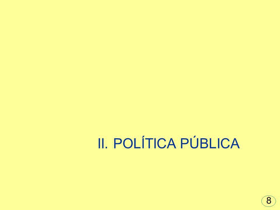 II. POLÍTICA PÚBLICA 8