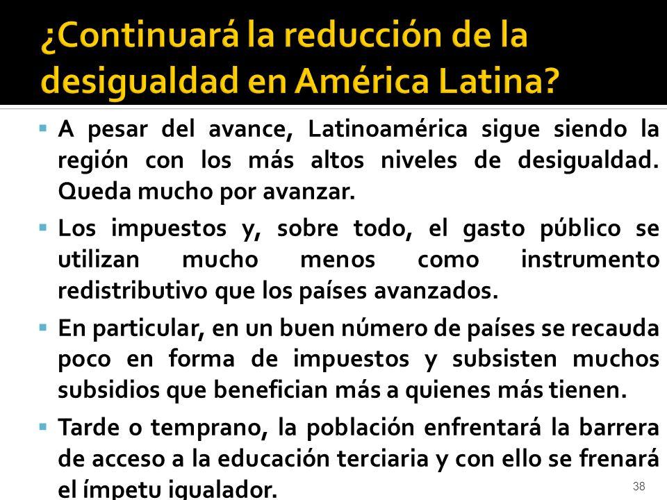 ¿Continuará la reducción de la desigualdad en América Latina