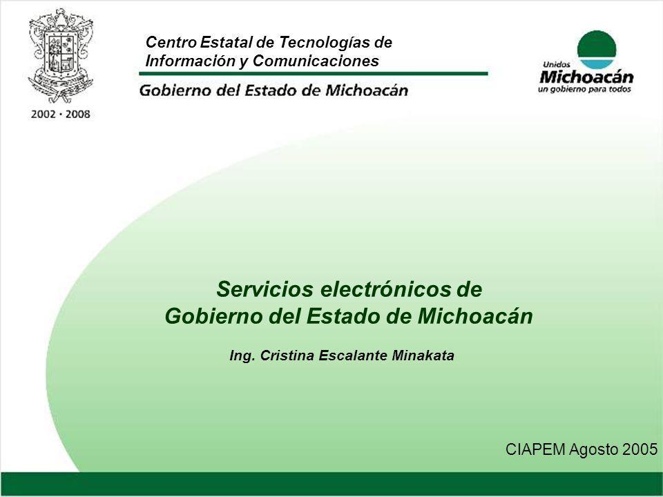 Servicios electrónicos de Gobierno del Estado de Michoacán