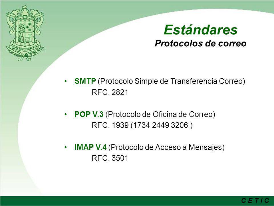 Estándares Protocolos de correo