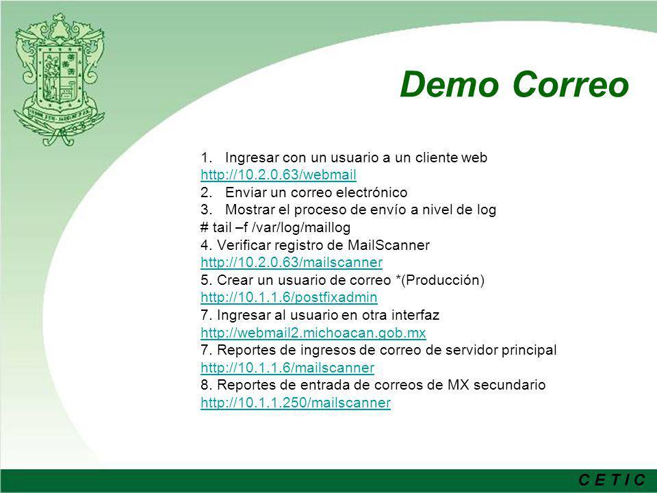 Demo Correo Ingresar con un usuario a un cliente web