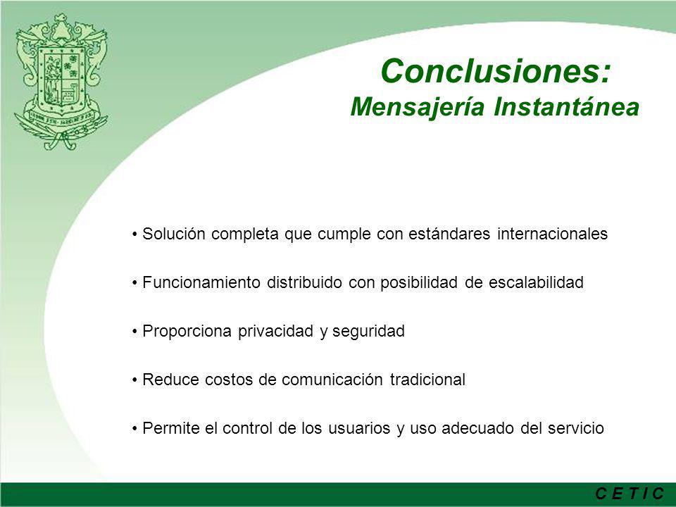 Conclusiones: Mensajería Instantánea