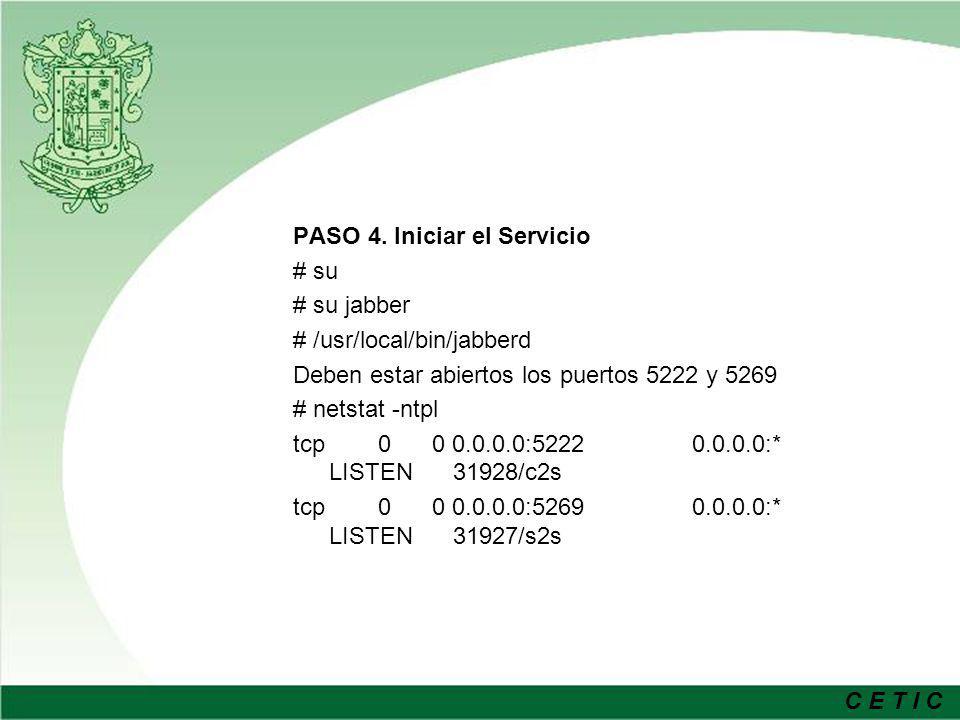 PASO 4. Iniciar el Servicio