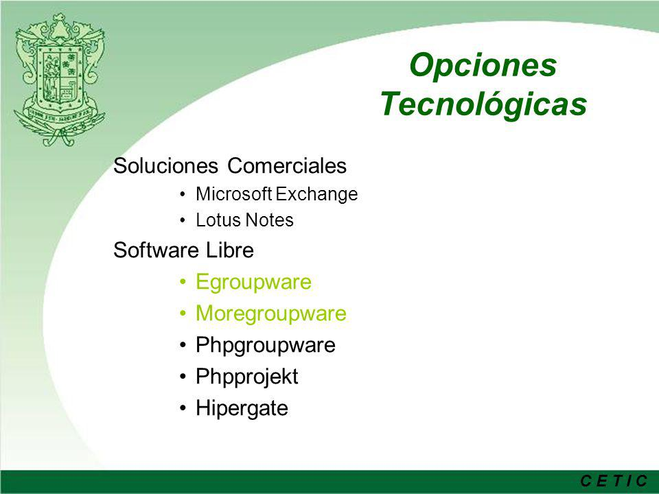 Opciones Tecnológicas