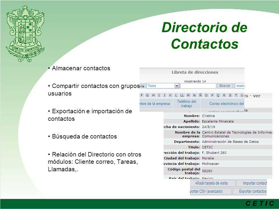 Directorio de Contactos