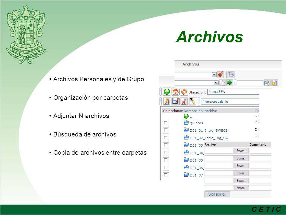 Archivos Archivos Personales y de Grupo Organización por carpetas