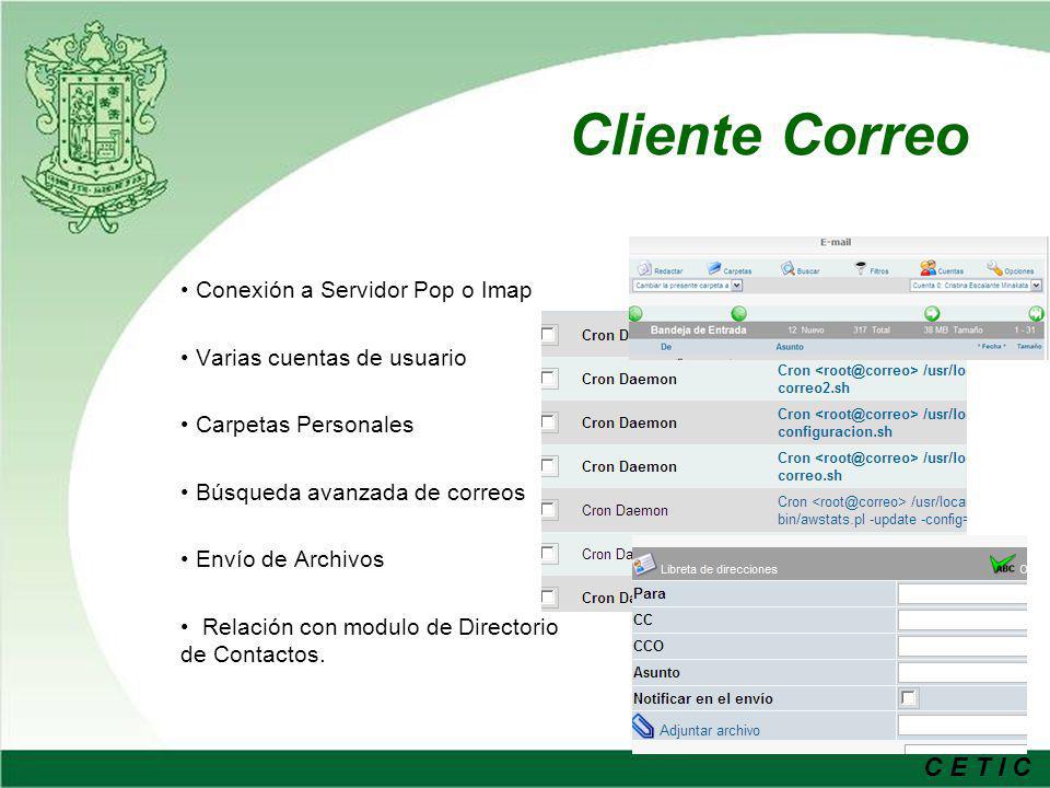 Cliente Correo Conexión a Servidor Pop o Imap