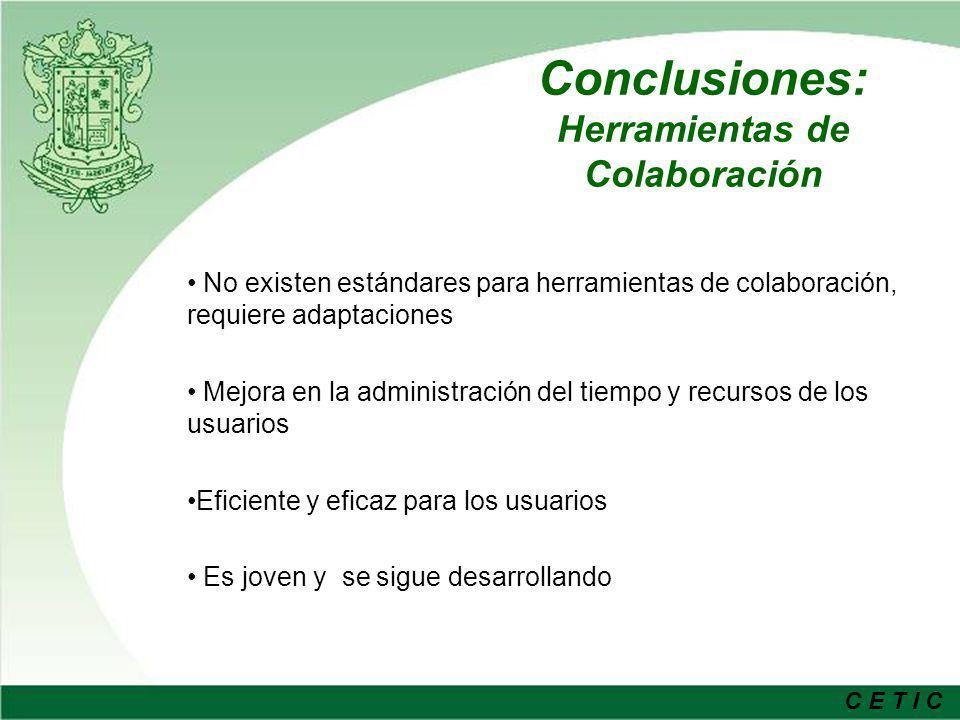 Conclusiones: Herramientas de Colaboración