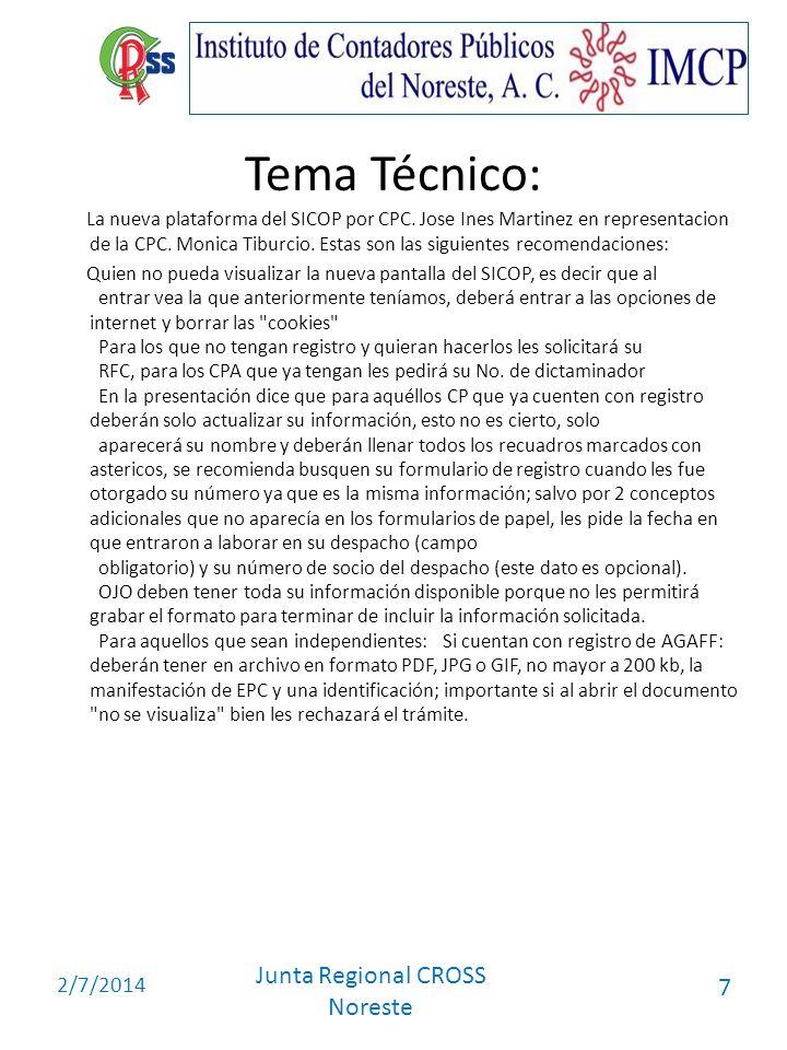 Tema Técnico:
