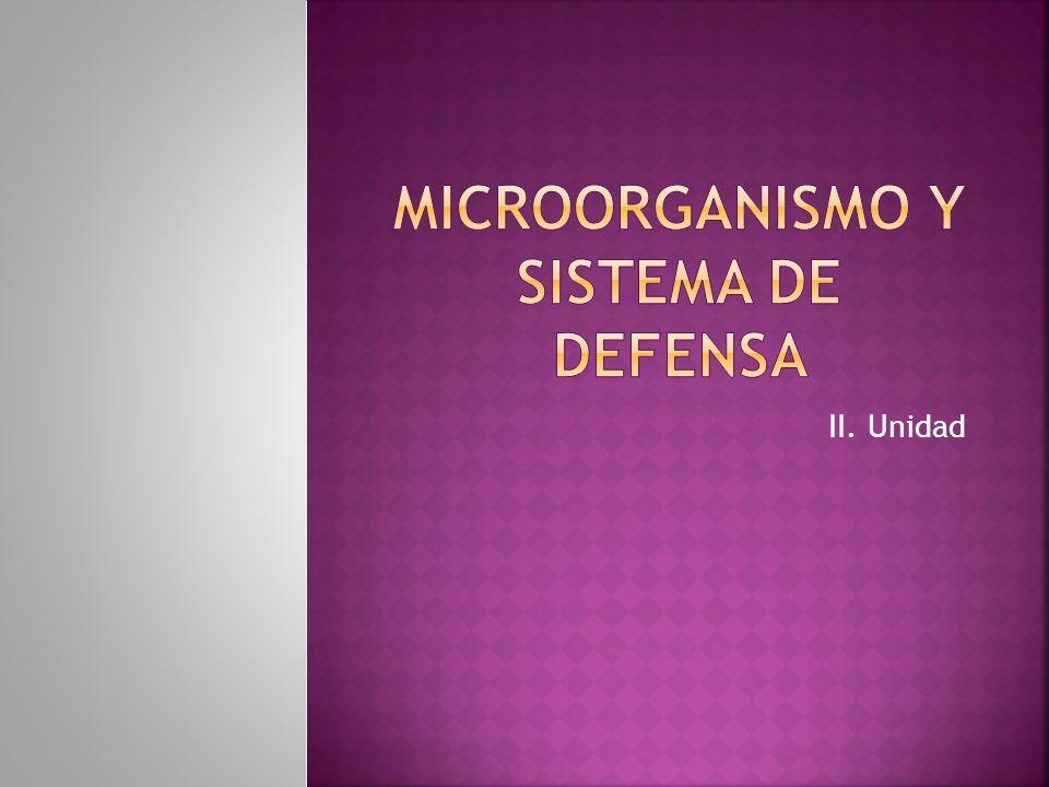 Microorganismo y sistema de defensa