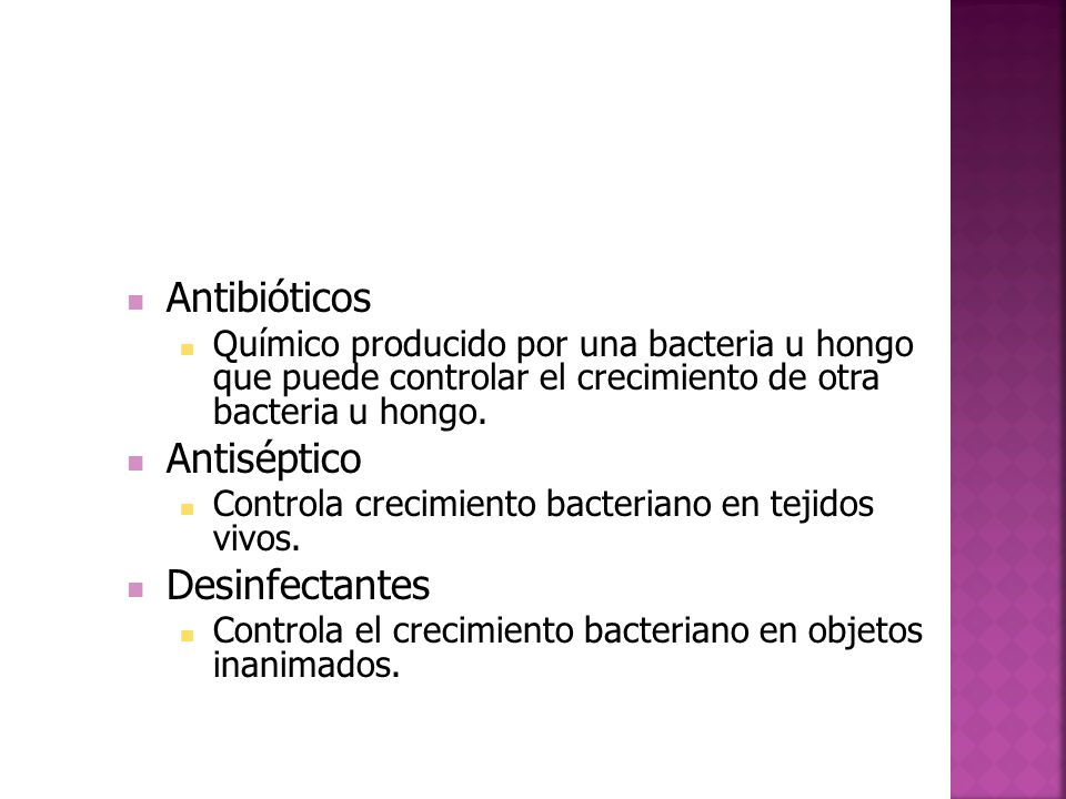 Antibióticos Antiséptico Desinfectantes