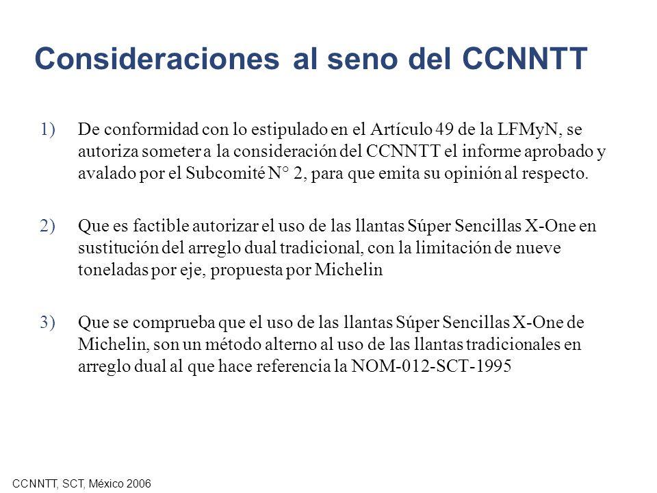 Consideraciones al seno del CCNNTT